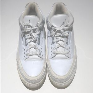 cfc75bd9122 Jordan Shoes - Nike air Jordan retro 3 white size 13 slvr annvsry